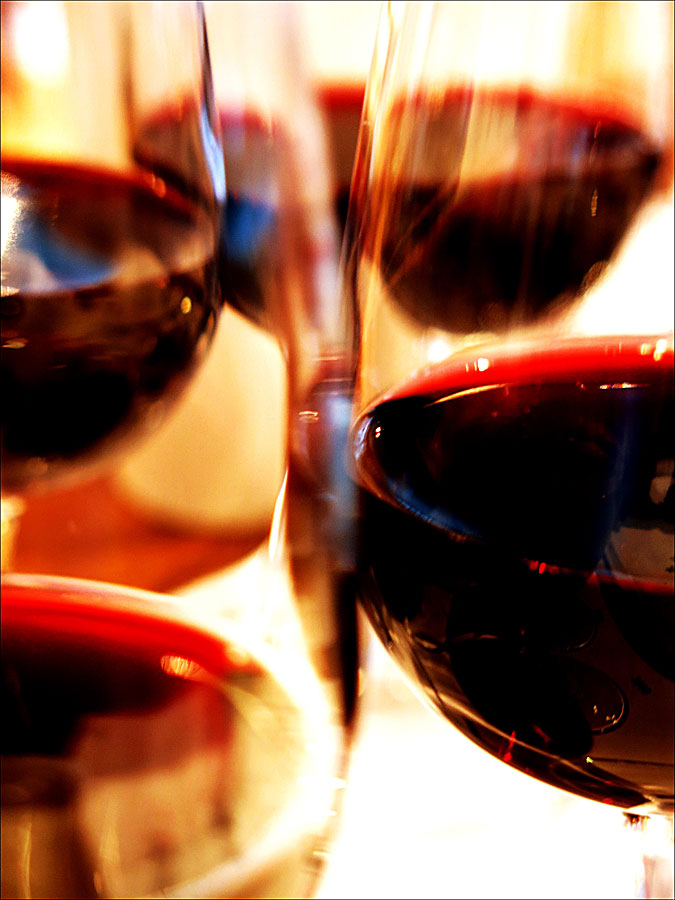 Glas fyllda med Fox Creek Wines på Adam & Albin Matstudio