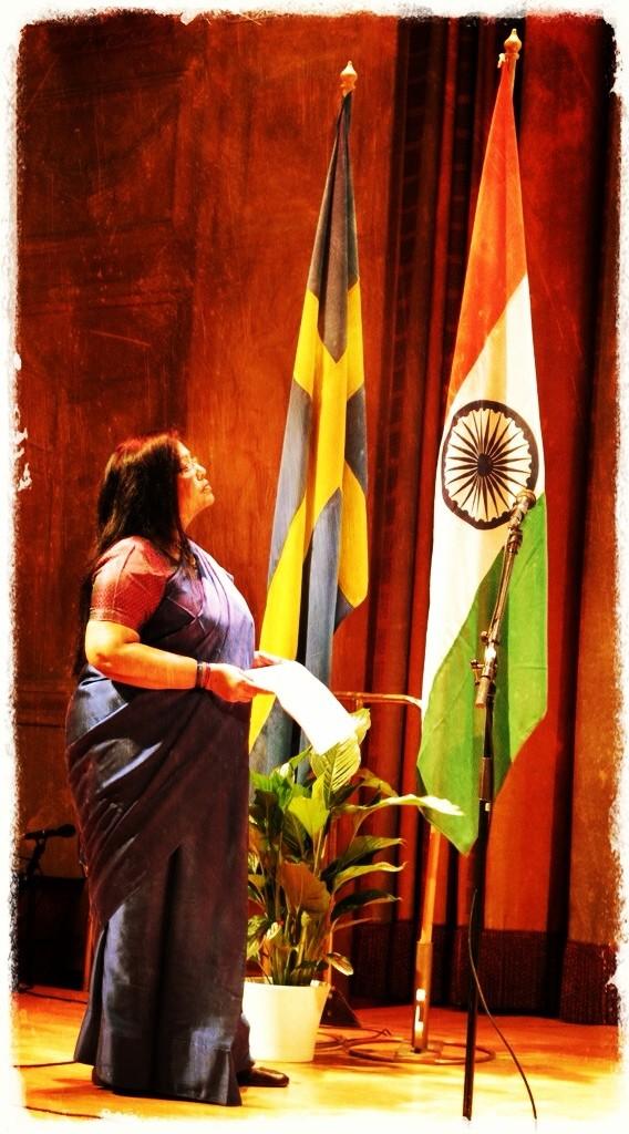 Indiens ambassadör, H.E. Mrs. Banashri Bose Harrison, firar The Republic Day of India