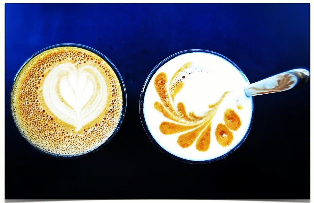 Latte Art på Kafé Esaias