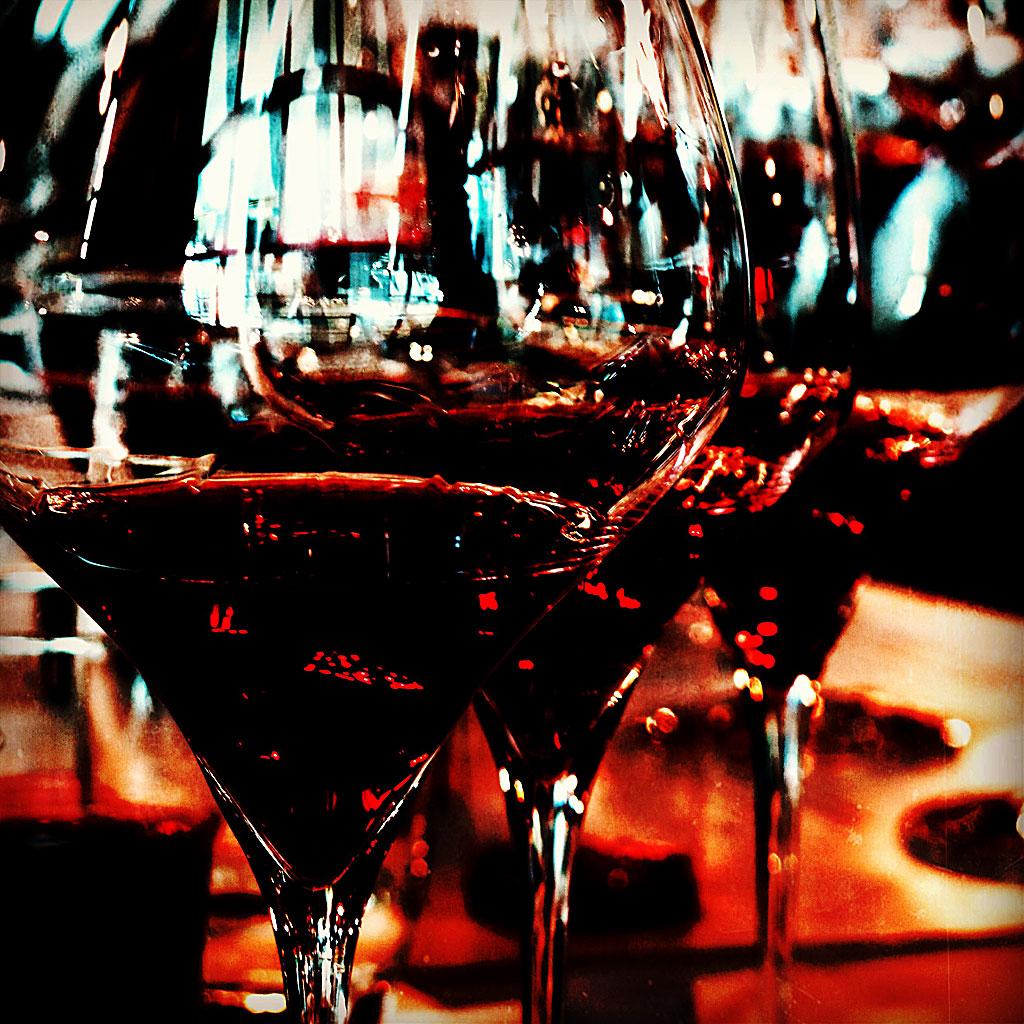 Riedel glas (med rödvin)