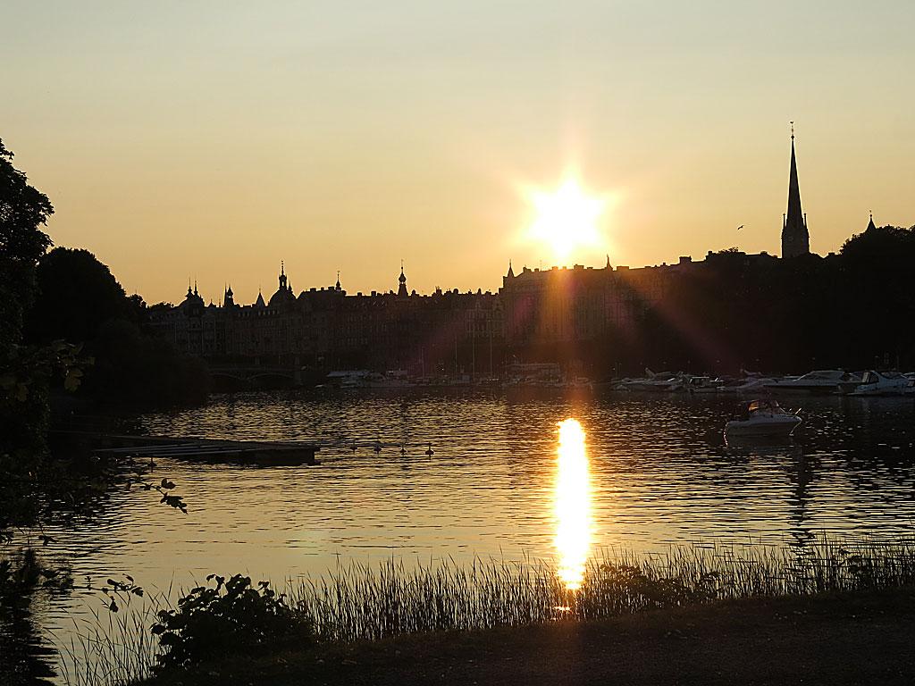 Solnedgång över Djurgårdsbrunnsviken