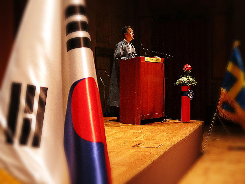 Sydkoreas ambassadör Son Sung-hwan inviger firandet av Gaecheonjeol
