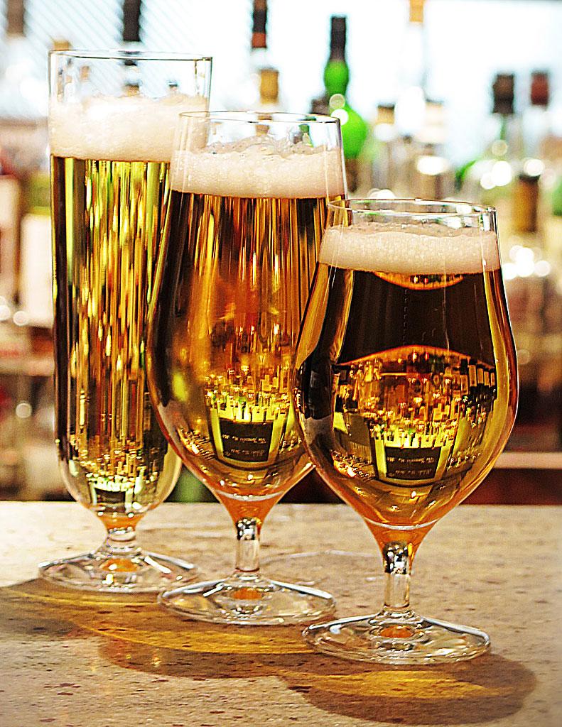 Lansering av Orrefors Beer glas, The Flying Elk