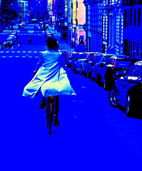 Cykla i det blå
