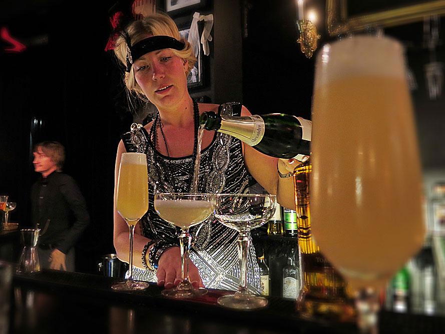 Sofia Sohlberg vid lanseringen av Black Velvet Toasted Caramel på Melt Bar