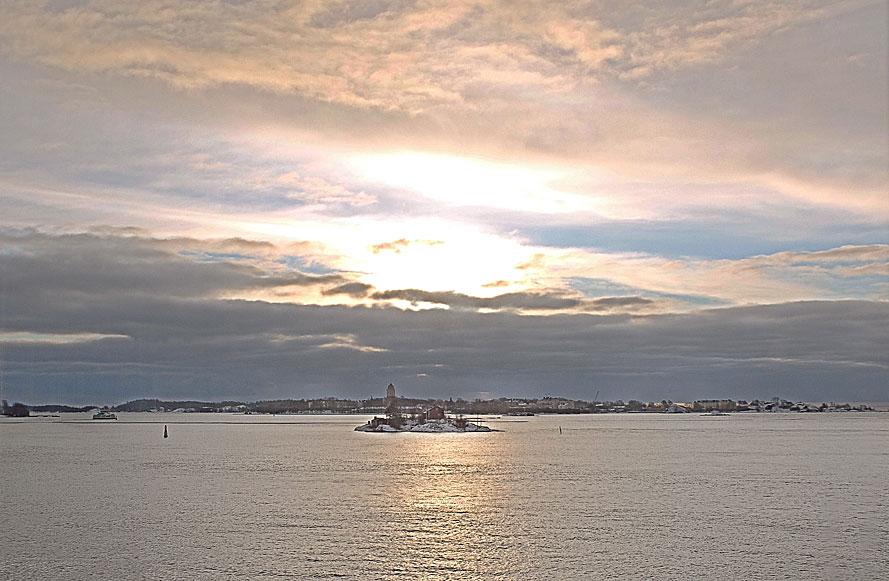 Helsingfors/Helsinkis inlopp, från Viking Line M/S Gabriella