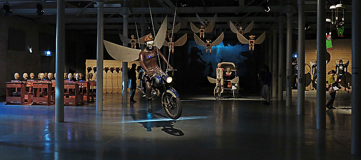 Utställningen Heri Dono – Animachines på Färgfabriken