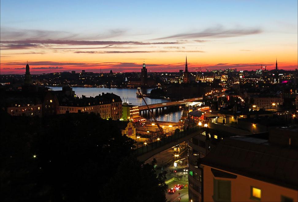 Utsikt från Mosebacke, Stockholm