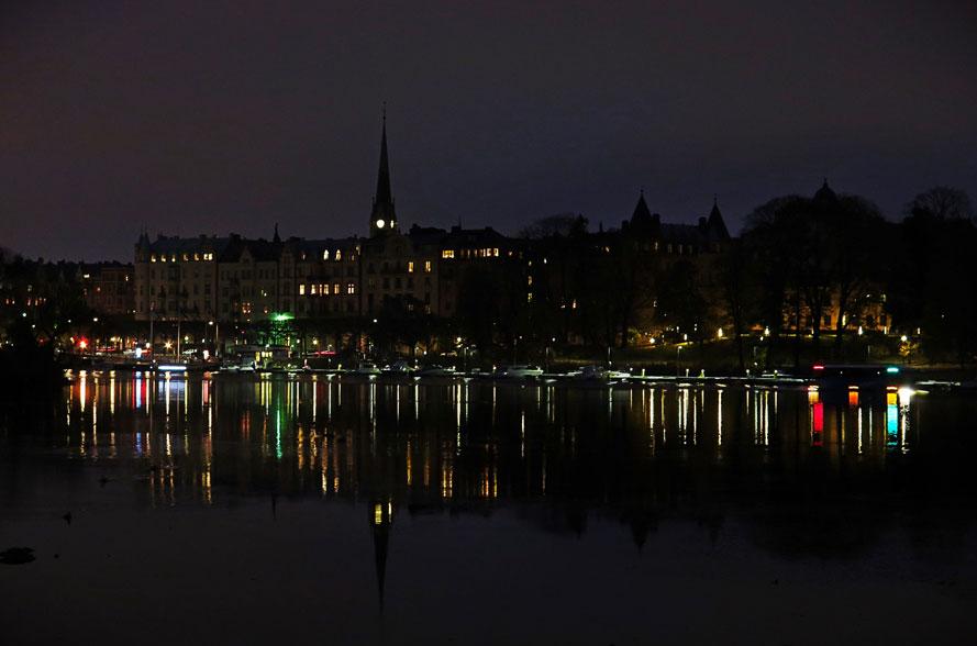 Djurgårdsbrunnsviken i natten