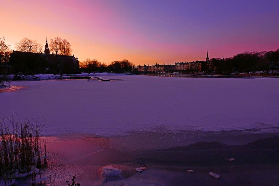 Vårvinterskymning på Djurgården