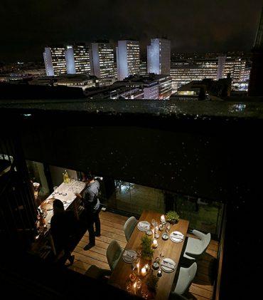 Nyproducerad lyxvåning i Continental Apartments. Enastående utsikt över Stockholm City
