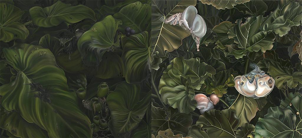 Konst av Anna Camner, mottagare av Beckers konstnärsstipendium 2017, utställning på Färgfabriken