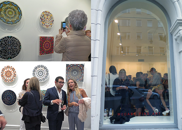 Vernissage för Damien Hirsts utställning The Psalms på McCabe Fine Art, Stockholm