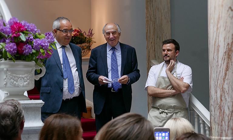 Gabriel Busquets/Octavio González/Carlos Andrinos på Tapasdagen / World Tapas Day, Spanska ambassaden
