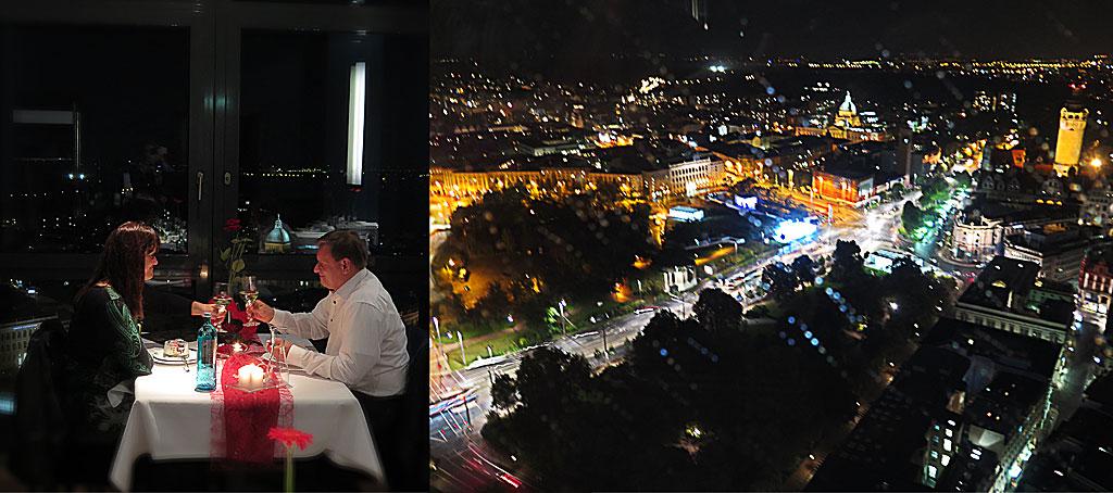 Middag i Panorama Tower, Leipzig