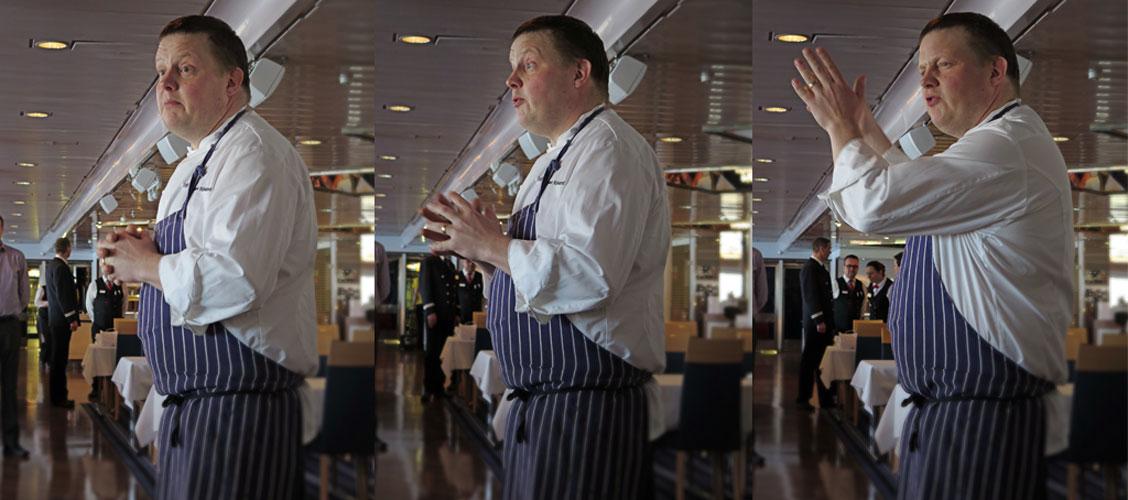 Michael Björklund presenterar Viking Lines nya meny