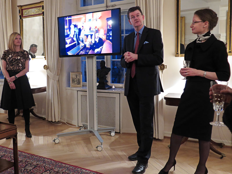 UK's Ambassador to Sweden Paul Johnston and his wife Nicola
