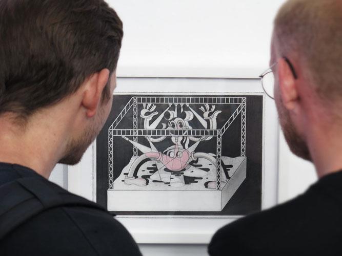 Ryan Travis Christian på utställningen Selfie – GSB/Steinsland Berliner