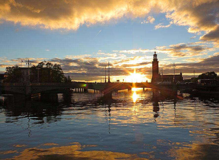 Solnedgång över Strömmen