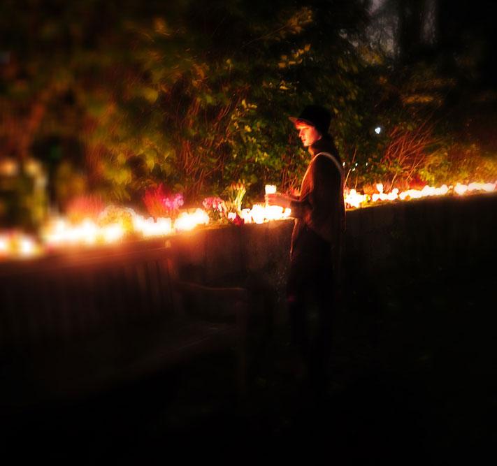 Gravljus på Allhelgonadagen