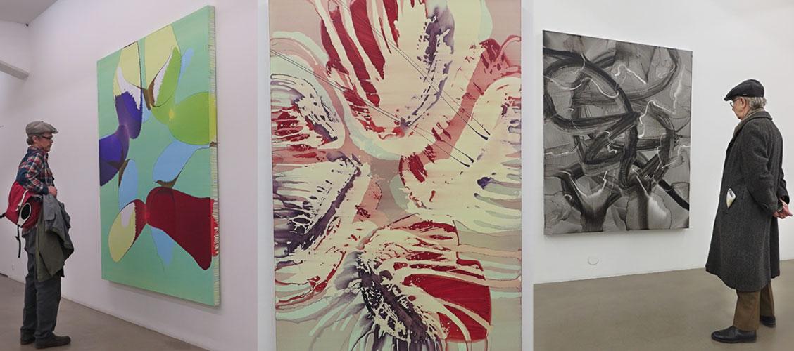 Vernissage för Tatjana Valsangs utställning på Galleri Andersson/Sandström