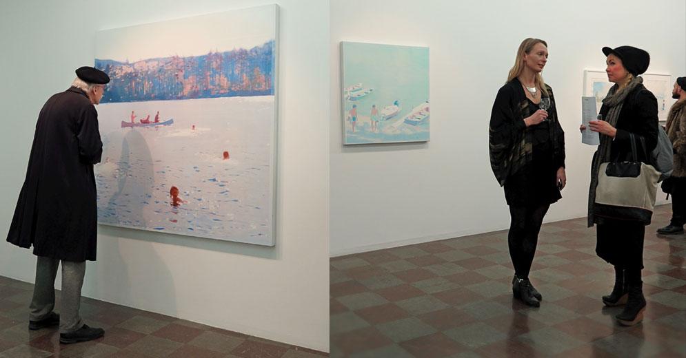 sca Greenfield Sanders utställd på Wetterling Gallery / Gallerirunda