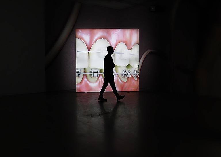 """Kate Coopers animation """"Rigged"""" på utställningen Insomnia på Bonniers Konsthall"""