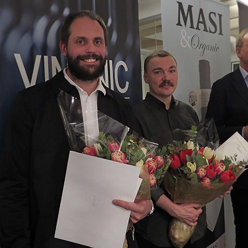 Jakob Ojanen & Alfred Boman, vinnare av VinUnic Konststipendium 2017